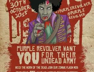 Purple Revolver Zombie Flash Mob